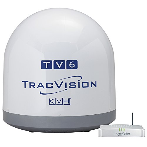 KVH Industries 01-0369-07 TracVision TV6 w/IP-TV Hub Boating Antennas