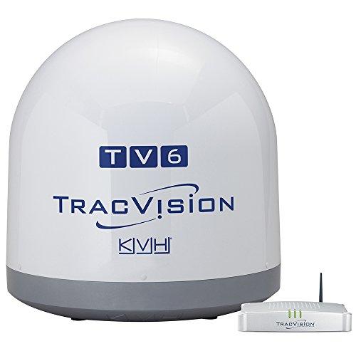 KVH Industries 01-0369-07 TracVision TV6 w/IP-TV Hub Boating Antennas
