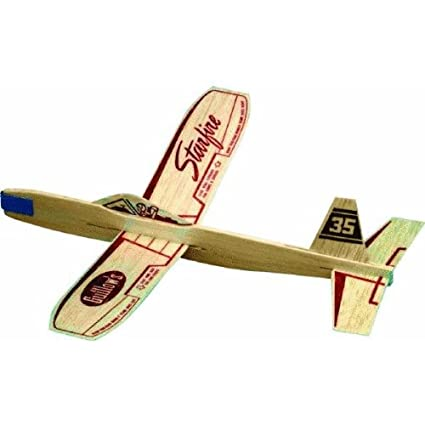Amazon Com Starfire Balsa Wood Glider Plane Toys Games