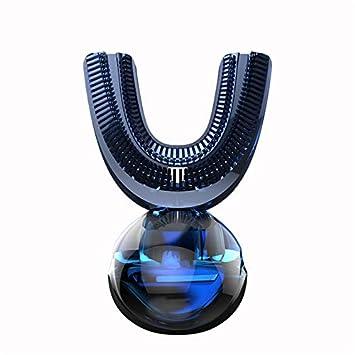 LoveVV 360 Grado Sonic automático de Cepillo de Dientes eléctrico USB Recargable Inteligente de silicio ultrasónico de 4 Modos U-Tipo Temporizador (Blanco, ...
