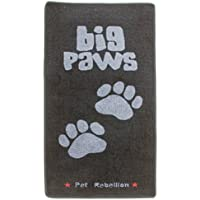 White & Black Dogs Stop Muddy Paws Mat
