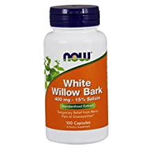 Now Foods White Willow Bark 400mg, 100 Capsules