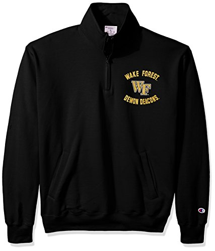 Wake Forest Demon Deacons Bottle (NCAA Wake Forest Demon Deacons Men's Power Blend Fleece Quarter-Zip Jacket, Medium, Black)