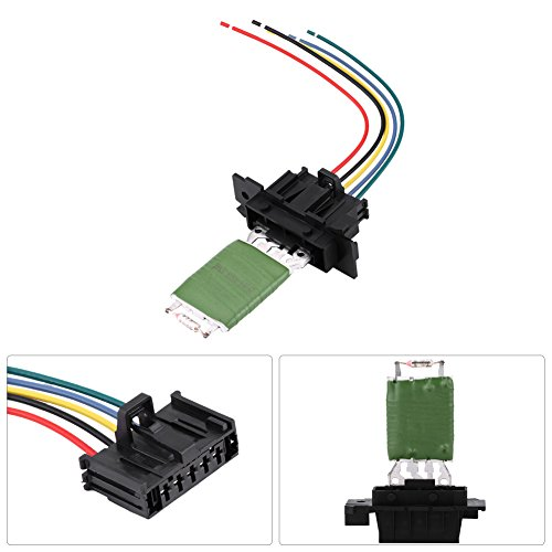 Blower Motor Resistor Kit with Harness - Resistor OEM #13248240, 77364061, 55702407, 6845796, EBTOOLS HVAC Fan Blower Motor Fits for Fiat Grande Punto Qubo, Vauxhall Corsa