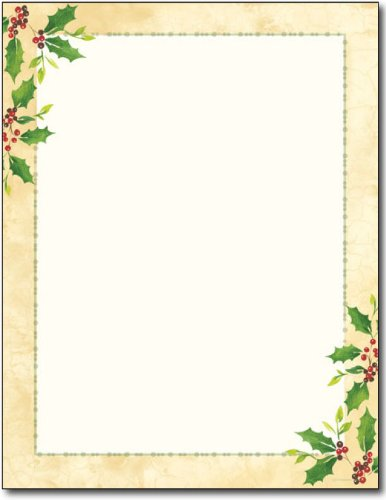 Falling Holly Holiday Stationery - 80 Sheets for $<!--$12.95-->