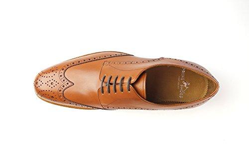 Prime Shoes Ferrara 3 Hellbraun Crust Cognac Rahmengenäht edler Schnürschuh aus feinstem Kalbsleder