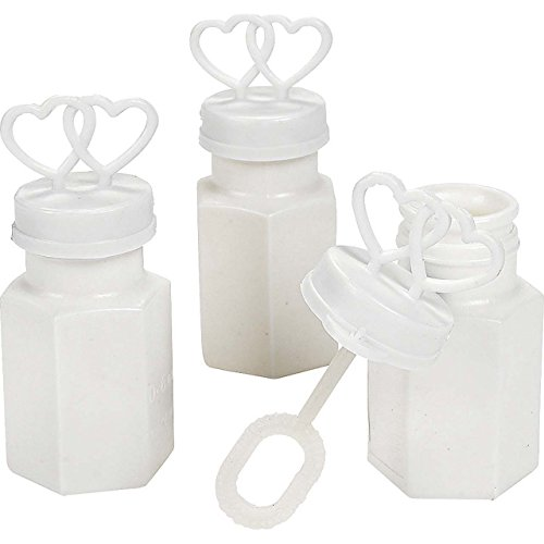 Rhode Island Novelty Plastic Two Hearts Bubble Bottles - 48 Count ()