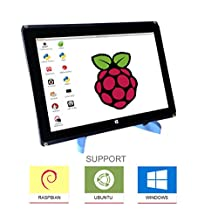 """Eleduino 10.1 """" 1280800 Raspberry Pi IPS Touchscreen Display LCD HDMI Input With Case and Stand"""