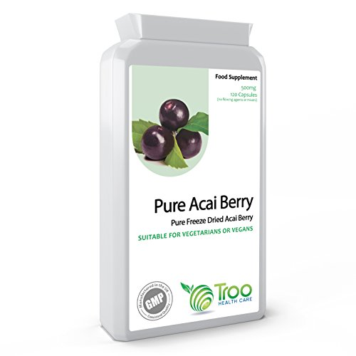Acai Berry 500mg 120 Capsules - Freeze Dried Super Food Potent Health...