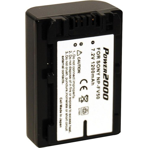 Power 2000 NP-FV50 Replacement Lithium-Ion 7.2v, 1200mAh Camcorder Battery for Sony Camcorders