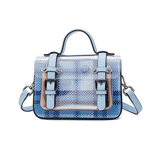 femme bandoulière Sac Lxf20 à pour Sac à pour transparent Blue à bandoulière Sac PU femme pour main sac bandoulière à wqnfR0Uqa