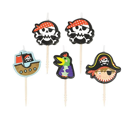 Amscan Little Pirate Pick Candle Set (5ct)