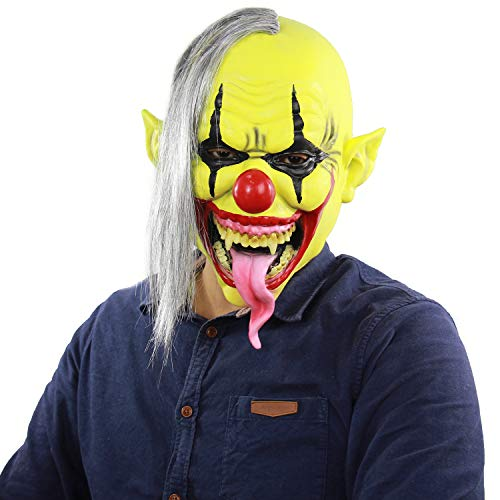 Halloween Costumes Stores In Ri (Xiao Chou Ri Ji Scary Sinister Halloween Latex Clown mask Lifelike Party Costume Role Play)