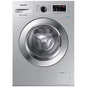 Samsung 6.5 Kg Inverter 5 star Fully-Automatic Front Loading Washing Machine (WW66R22EK0S/TL, Silver Hygiene Steam)