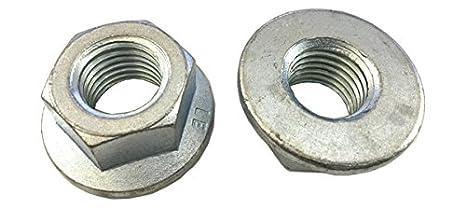 Three Quantity Options M8 #BD/_1 Zinc Plated Flange Nuts