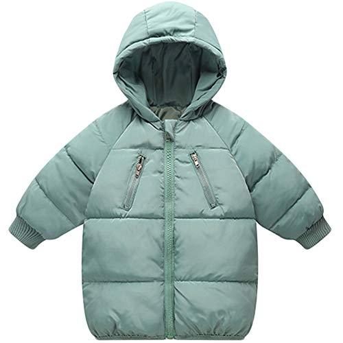 LANBAOSI Baby Boys Girls Winter Coat Toddler Kids Warm Hooded Jacket Outerwear Green