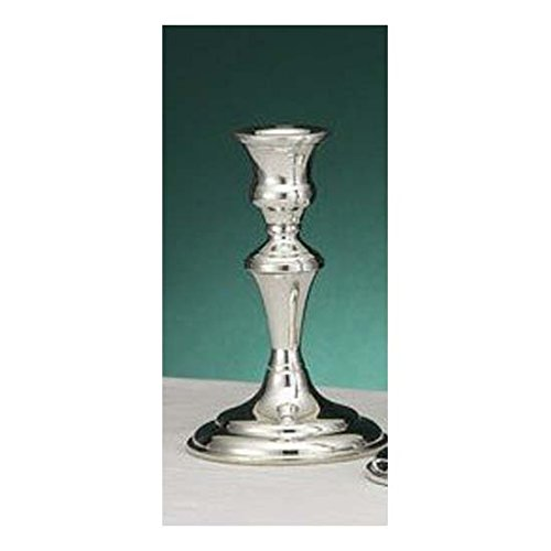 (Pewter Trumpet Candlestick - 6