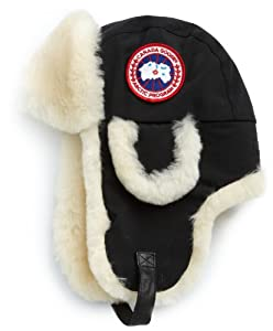 Canada Goose' Shearling Pilot Hat 5188m Light Grey Size S/m Warm