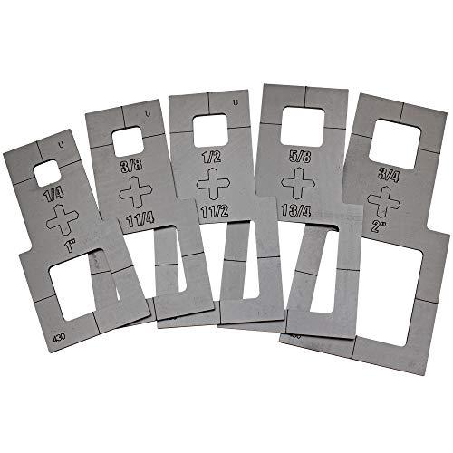 Plasma Stencil - Square Cutter Guide - 5 pc. Kit - .380