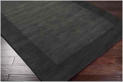 Capel Rugs Sisal Rug (Hand Loomed Ghana Solid Bordered Tone-on-tone Wool Area Rug (5' X 8'))