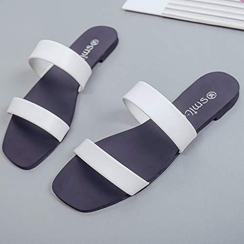 Elegante Bianco Ihengh Shoes Roma Estivo Women Sandals Donna Spiaggia Ragazza Regalo Toe Peep Moda Infradito Casual Nero Trasparenti 2019 Sandali Pantofola Nuovo O0ax1rO