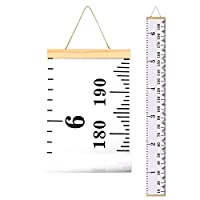 """Smlper Height Chart for Kids,Growth Chart Wall Decor for Baby Room,Canvas Removable Height Ruler 79""""x7.9"""""""