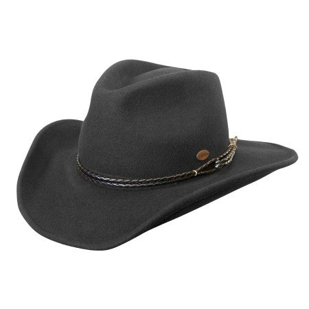 Outlaw Western Shapeable Wool Hat - The Western Outlaw Hat