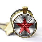 Bucky Barnes aka Winter Soldier Logo Keychain -  web