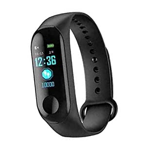 Callie M3 Smart Fitness Band Activity Watch Heart Rate Sensor Silicon Digital LED Bracelet Band Wrist Watch for All Kids…
