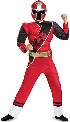 Power Rangers Ninja Steel Muscle Costume, Red, Small (4-6)