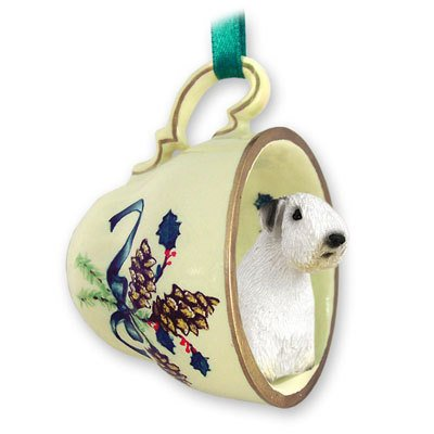(Conversation Concepts Sealyham Terrier Tea Cup Green Holiday Ornament)