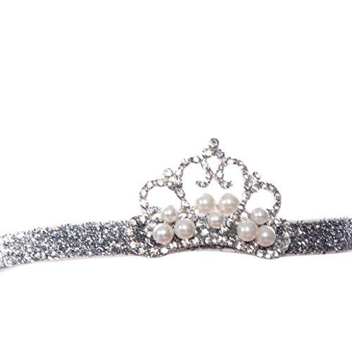 Trenton Newborn Baby Noble Crystal Crown Kids Girl Cute Hair Band Princess Headwear - D
