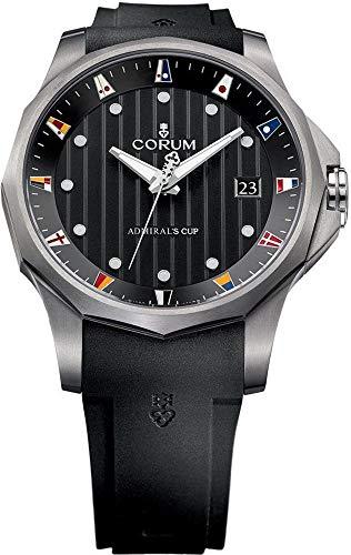 Corum ADC 47 Admiral's Cup Automatic Titanium Mens Watch Calendar Black Rubber Strap 403.100.04/F371 AN10
