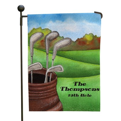 "lized Golf Garden Flag, 12 1/2"" w x 18"" h, Polyester (Golf Garden Flag)"