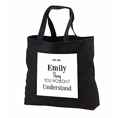 delicate BrooklynMeme Names - Its an Emily thing - Tote Bags - Black Tote Bag 14w x 14h x 3d (tb_252225_1)