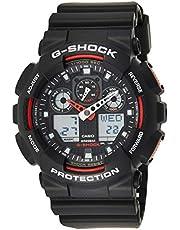 ساعة يد للرجال بحركة كوارتز من كاسيو ونظام عرض انالوج رقمي وسوار بلاستيكي GA100-1A4