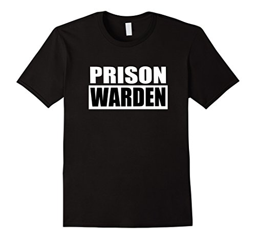 Mens Prison Warden T-shirt for Halloween Prison Costume 3XL Black - Warden Costume Male