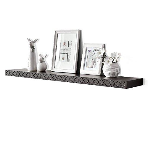 48 inch espresso wall shelf - 9