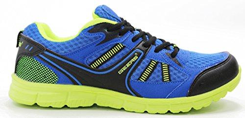 Heren Sneakers Comfort Training Atletische Hardloopschoenen Blauw / Limoen