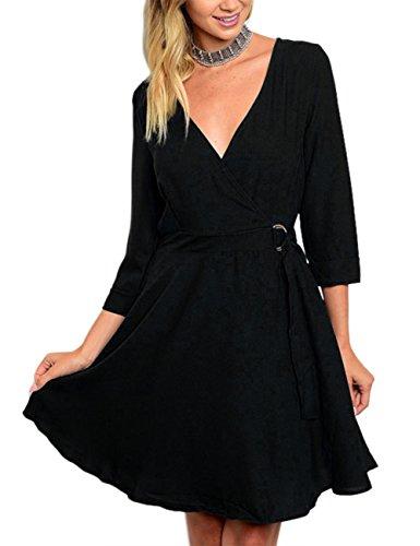 Chiffon Belted Dress - 3