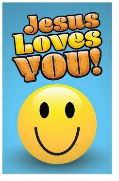 Jesus Loves You! (Packet of 100, KJV) (Bible Verses About Love King James Version)