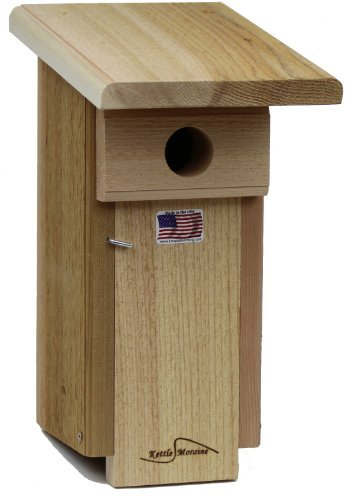 Kettle Moraine Cedar Eastern Bluebird House Nesting Box (Coveside Eastern Bluebird House)