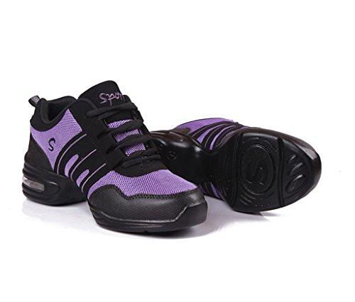 Shoes Women's Doris Purple Jazz Sneakers Ballrom Dance Fashion Modern Fashion 665BUr8qw