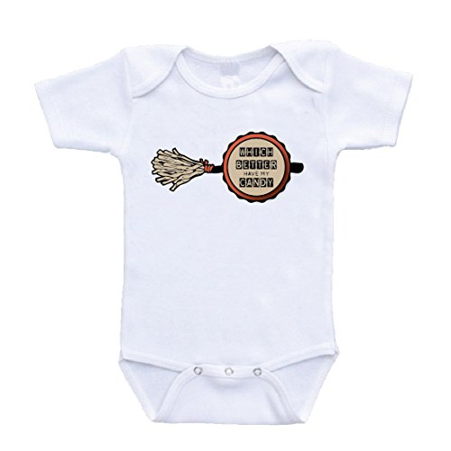 Halloween Which Better Have My Candy Funny Baby Bodysuit Rihanna Parody (12 Months) for $<!--$11.95-->