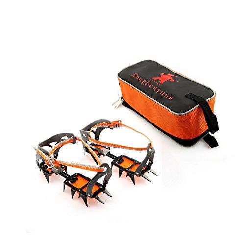 Crampon Traction Device Strap Type Crampons Ski Belt High Altitude Hiking Slip-resistant 14 Teeth Mountaineering