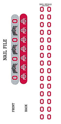 Bundle 2 Items: Ohio State University Nail File and Nail Sticker Decals