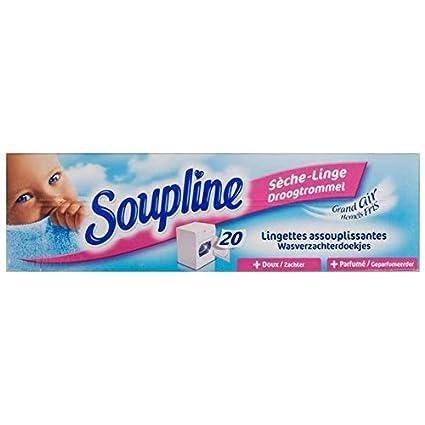 Soupline - 20 toallitas para secadora de ropa Grand Air