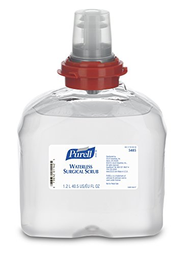 PURELL TFX Waterless Surgical Scrub, 1200 mL Scrub Refill for PURELL TFX Touch-Free Dispenser (Case of 4) - 5485-04 ()