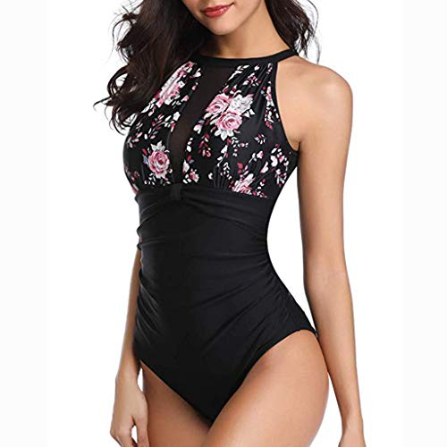 379272f417a03 Bathing Suits for Women One Piece Swimsuits Tummy Control Swimwear Slimming  Backless V Neck Bikini Beachwear
