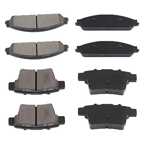 (AUTOMUTO Front Rear Ceramic Brakes Pads Set fit for 2008 2009 Mercury Sable 2005-2007 Ford Five Hundred, Ford Freestyle, 2008 2009 Ford Taurus Ford Taurus X 2005-2007 Mercury Montego)